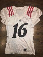 Game Worn Used Adidas Cincinnati Bearcats Football Jersey #16 Size M