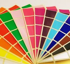 25mm or 38mm Square Colour Code Dots Blank Price Stickers Sticky Labels