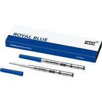 MONTBLANC Royal Blue MEDIUM Ballpoint, Pack w/ 2 Refills - BRAND NEW!