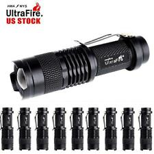 10PC 10000Lumens MiNi Tactical CREE Q5 LED Flashlight Torch Zoomable Lamp Light