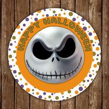 Jack skellington happy halloween gommettes rondes sceau étiquettes enfants fête faveurs