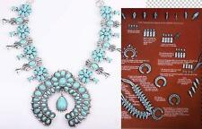Silver Turquoise Blossom Flower Long Necklace cocktail Crystal Bib Pendant