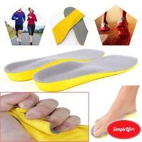 MEMORY FOAM UNISEX ORTHOPAEDIC SHOE PADS TRAINER FOOT FEET COMFORT SOFT INSOLES