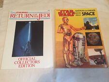 ORIGINAL RETURN OF THE JEDI BOOKS SPACE BOOK 1979  1 STARWARS STAR WARS 1983