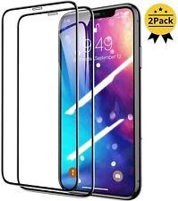 2x FULL COVER GLAS iPhone 11 XR XS X 11 Pro Max Panzerfolie Schutz Display Hart