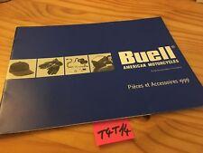 Buell gamme 1999 pièces accessoires prospectus moto brochure dépliant publicité