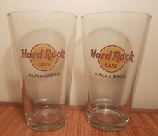 Hard Rock Cafe Pint Beer Glass x 2