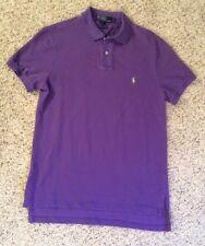 Ralph Lauren Men's Custom Fit Polo Cotton Mesh Polo Color- Purple EUC Size: Med