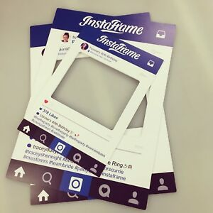A2 Personalised Instagram Frame Photo Party Prop Selfie InstaFrame CNC Routered