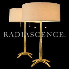 STIFFEL MONUMENTAL ATOMIC MODERN ROCKET BRASS TABLE LAMPS LIGHTOLIER THURSTON
