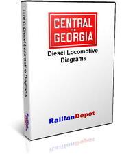 Central of Georgia Diesel Locomotive Diagrams - PDF on CD - RailfanDepot