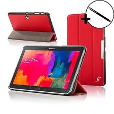 Leather Red Smart Folding Case Cover for Samsung Galaxy Tab PRO 10.1 + Stylus