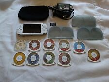Sony PSP 3001 Bundle w/ 10 Games and Memory Stick- White