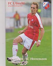 Programma / Programme FC Utrecht v SC Heerenveen 12-03-2006
