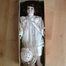 VINTAGE 1988 Brinn Porcelain Collectible Doll ASHLEY PINK #2NTL 555, New In Box