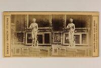 Italia Florence Museo Dei Uffici Venere Cnido 1865 Foto Alinari Stereo Albumina