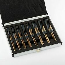 "9pc Silver & Deming Drill Bit Set 9/16"" 5/8 11/16 3/4 13/16 7/8 15/16 1"" W/Case"