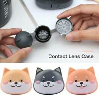 Portable Contact Lens Storage Case Cute Dog Shaped Contact Lens Container Travel