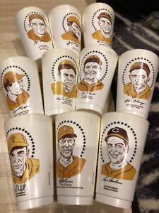 LOT OF (10) 7-ELEVEN HALL OF FAME SLURPEE CUPS. BABE RUTH YOGI