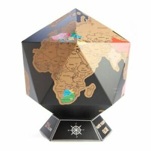 Scratch Me Awaythe Bronze Layer World Travel Globe To Track All Your Travels
