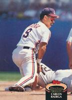 Carlos Baerga 1992 Topps Stadium Club #143 Cleveland Indians card
