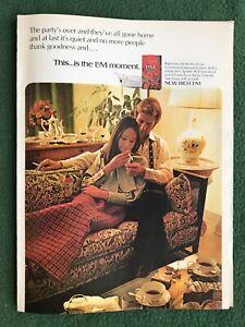 vintage 1960s magazine ad L&M Cigarettes smoke smoking smoker L&M Moment couple