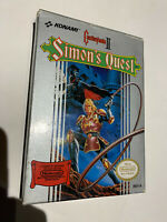 CASTLEVANIA II SIMON'S QUEST AUTHENTIC COMPLETE CIB NINTENDO NES BOX MANUAL CART
