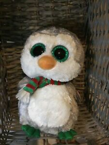 """Brand New Ty Boo / Boos Chilly Christmas Penguin Medium 9"""""""