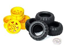 LEGO Technic - Balloon Tire x 4 - Yellow Rims - New