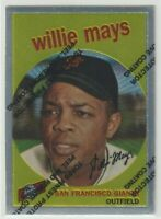 1996 TOPPS WILLIE MAYS 1959 REPRINT CHROME INSERT CARD #50 WITH PROTECTIVE FILM