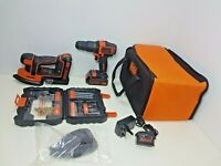Black + Decker Cordless Hammer Drill & Detail sander with Batteries (93)