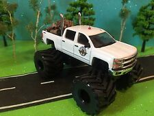 1/64 Custom G5 Lift Kit, Chevrolet Silverado, quad cab, Dual Pipes, CB Antenna