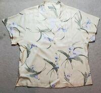 Mens Tommy Bahama Floral Print Aloha Hawaiian Camp Resort Silk Shirt XL