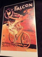 Sports Vintage Art Nouveau Repro Poster Print Falcon The Franco-American Bicycle
