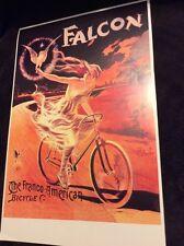 Sports Vintage Art Nouveau Repro Poster Print Falcon The Franco-American Bicycle