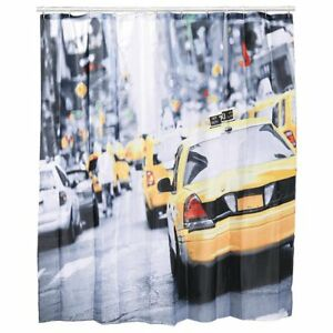 Duschvorhang USA New York Yorker Taxi NY 180x180 inkl Ösen Badewannenvorhang NEU