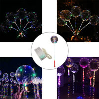 EE_ LED LUMINOUS BALLOON STRING LIGHT TRANSPARENT WEDDING BIRTHDAY PARTY DECOR O