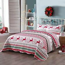 2 Pcs Kids Quilt Set Throw Blanket For Teens Boys Girls Bedding, Snow Flake