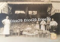 Early 1900's Vintage Italian American Fruit Stand Original Photograph