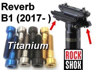 ROCKSHOX REVERB B1 (2017-): 2 ajustable saddle screws in titanium - 43% lighter!