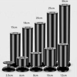 Stainless Steel Furniture Leg Cabinet Table Sofa Bed Feet Adjustable 6-20CM NR9