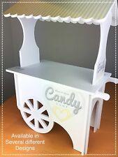 Carro Carrito De Dulces XXL paquete plano Gran Pantalla Dulce Boda Blanco. impreso mcs&t