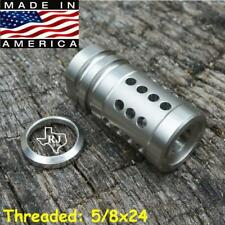5/8x24 FCX 308.308 Precision Stainless Steel Muzzle Brake Compact+Crush Washer