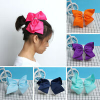 8 INCH CUTE GROSGRAIN BOWS BOUTIQUE HAIR CLIP BUTTERFLY CLIPS RIBBON BOW GIRL**