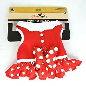 New Disney Parks Tails Minnie Mouse Costume Harness for Dogs Small New with Tags