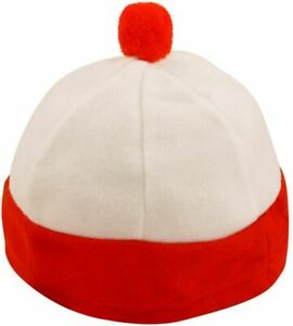 Boys / Girls Book Week Accessory Hat Red White Where's Wally Style Fancy Dress