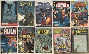 10 Comic Books Superman Hulk Marvel Age Airboy Mighty Crusaders Spirit and more