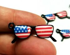 4th of July Sunglasses Charms Glasses Charm American Flag Charm USA Charms