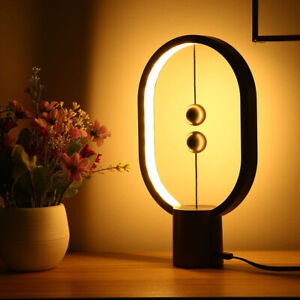 LED Table Lamp Counterbalance Magnetic Halogen Handcrafted Brass Style Eye-Care