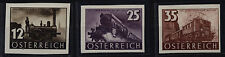 Echte Briefmarken mit Eisenbahn österreichische